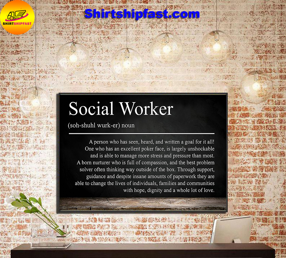 Social worker definition poster - Picture 1