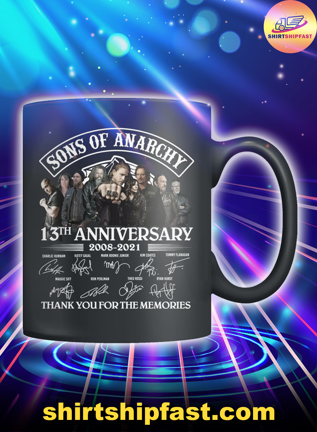 Sons of Anarchy 13th anniversary thank you for the memories mug