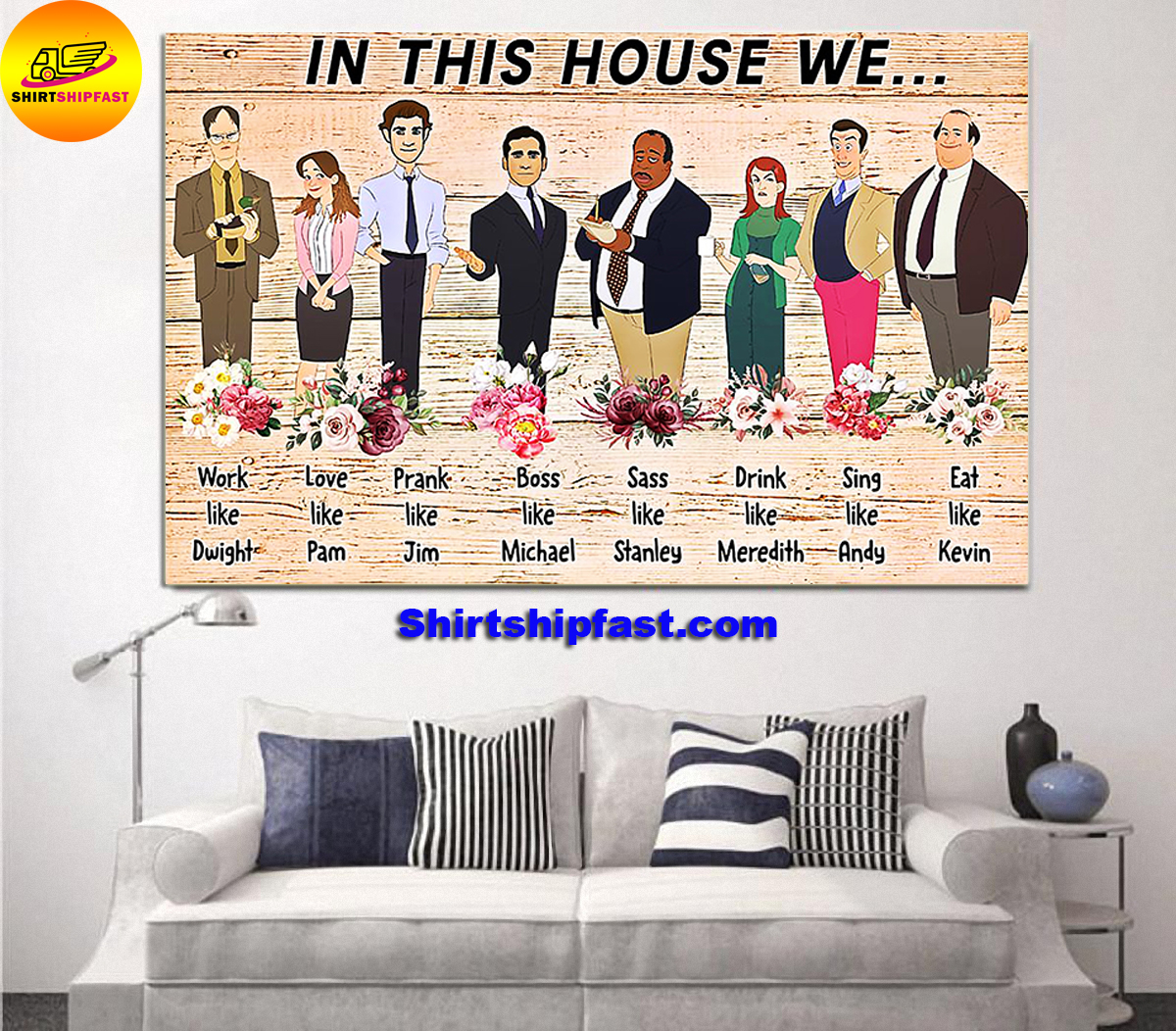 The office in this house we work like Dwight poster - Picture 1