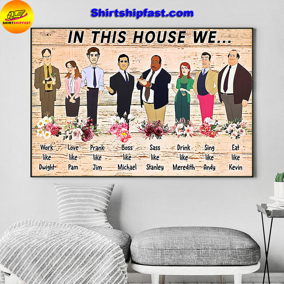 The office in this house we work like Dwight poster - Picture 2