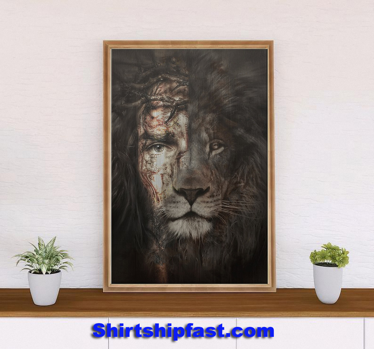 The perfect combination Jesus and lion canvas - Picture 3
