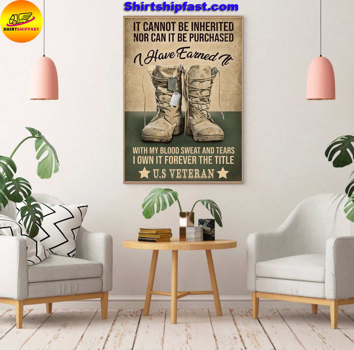 US veteran It cannot be inherited nor can it be purchased canvas - Picture 2