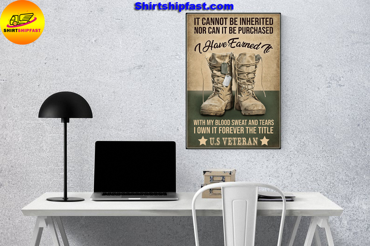 US veteran It cannot be inherited nor can it be purchased canvas - Picture 3