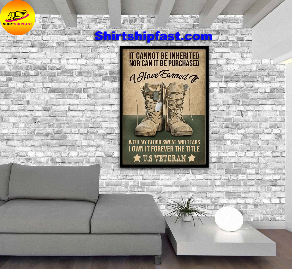 US veteran It cannot be inherited nor can it be purchased canvas