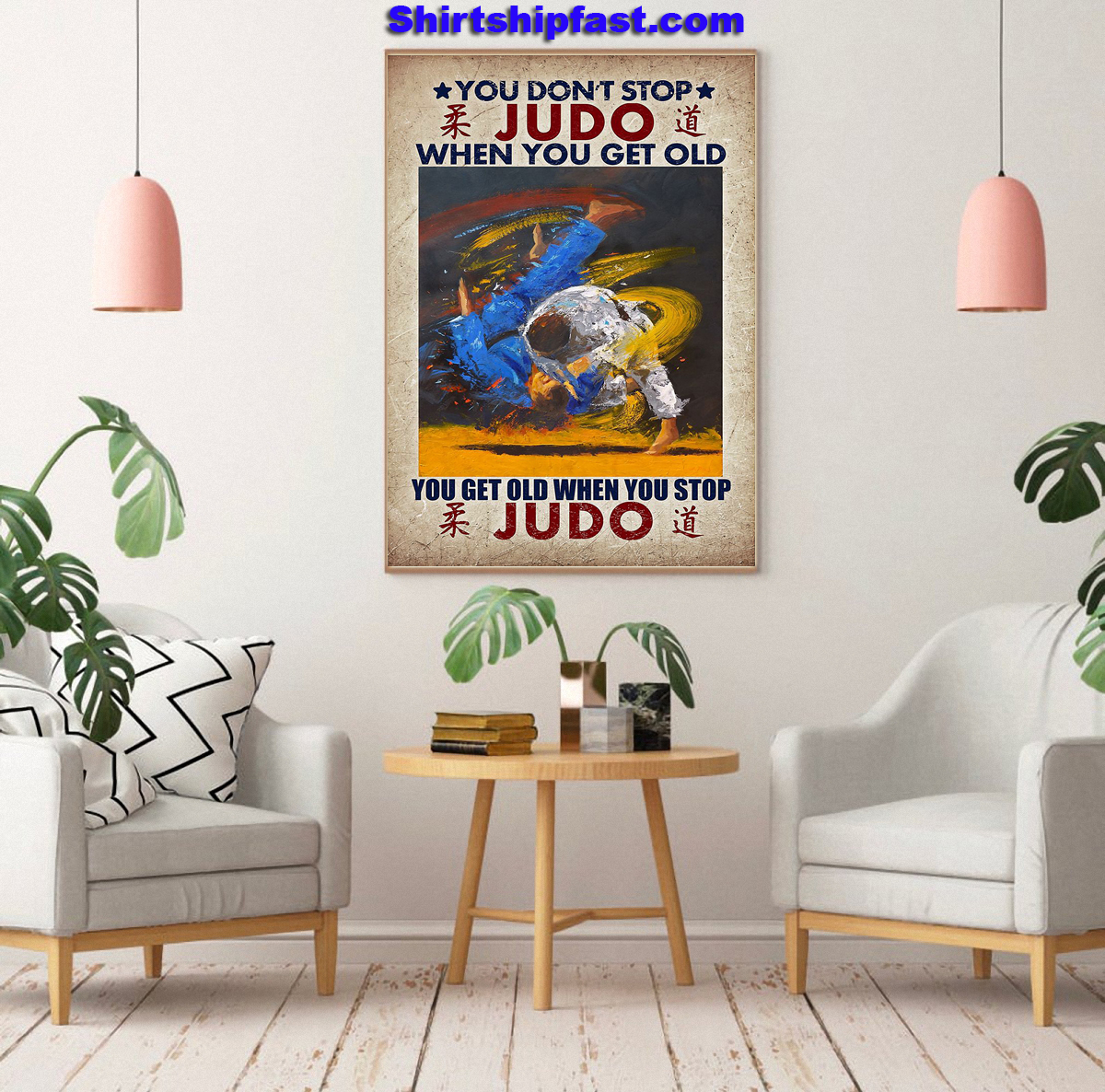 You don't stop judo when you get old canvas prints - Picture 2
