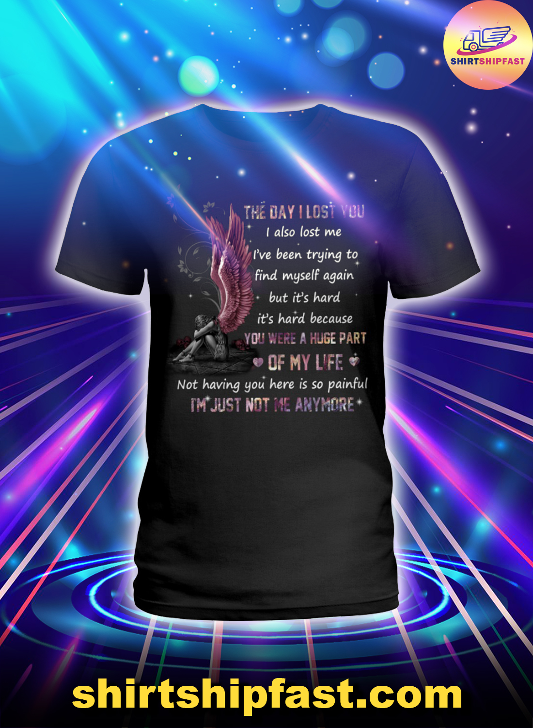 Angel The day I lost you I also lost me lady shirt