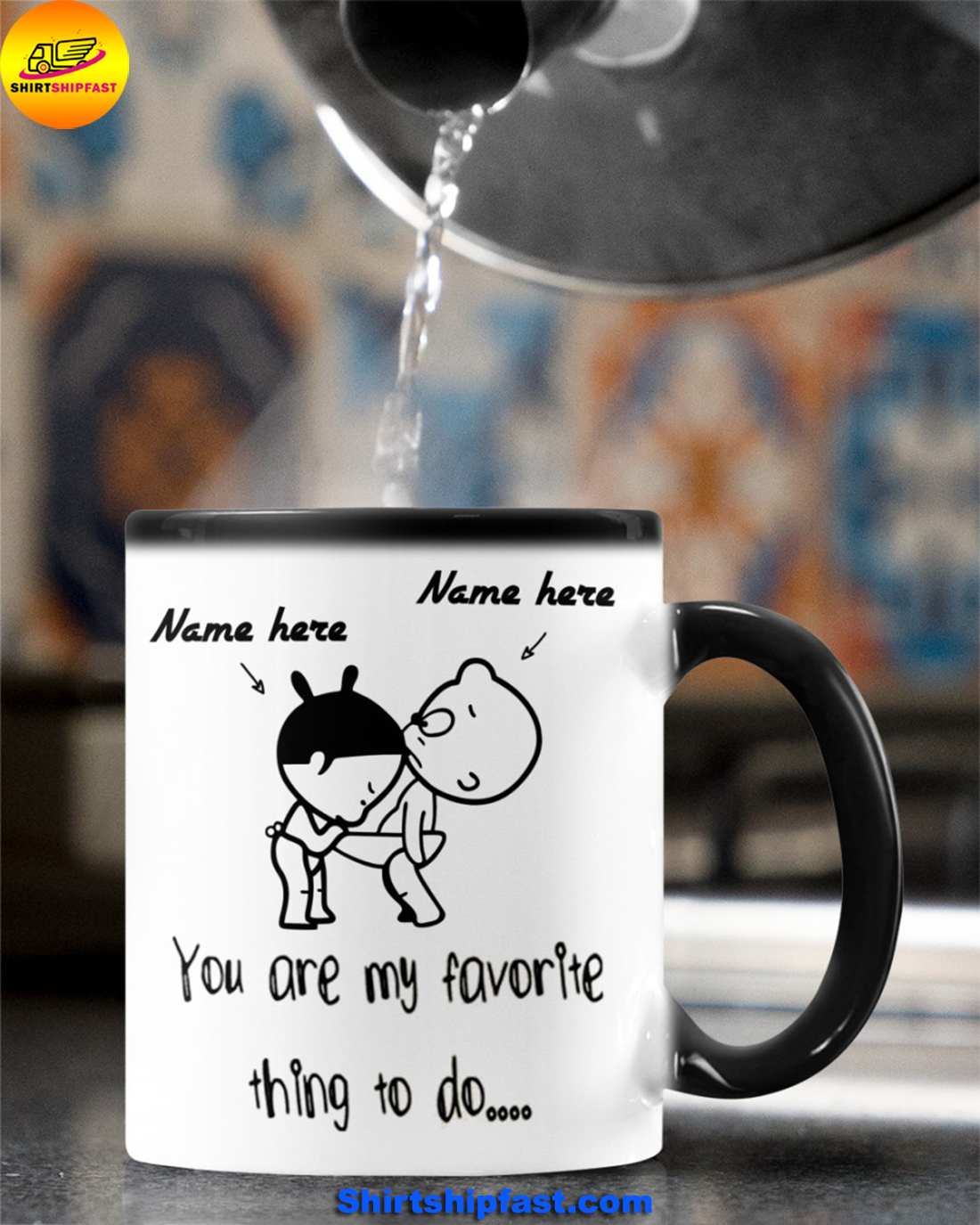 Baby girl and boy You are my favorite thing to do personalized custom name mug - Picture 2