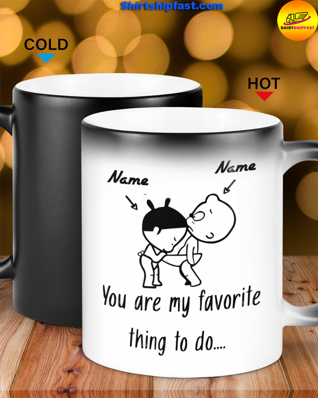 Baby girl and boy You are my favorite thing to do personalized custom name mug - Picture 3