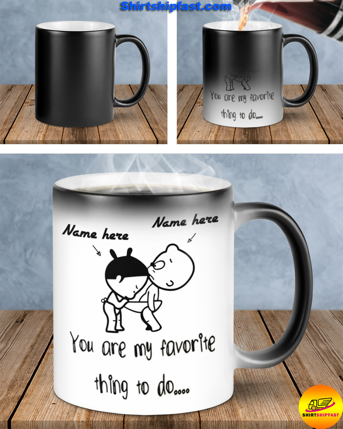 Baby girl and boy You are my favorite thing to do personalized custom name mug