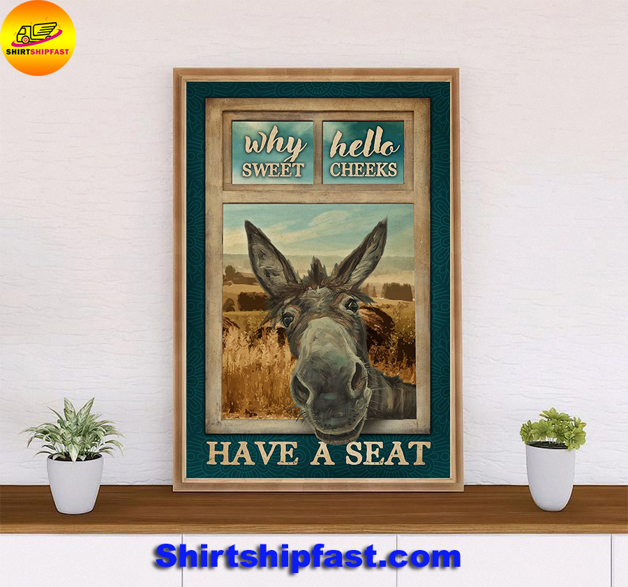Donkey why hello sweet cheeks poster - Picture 1