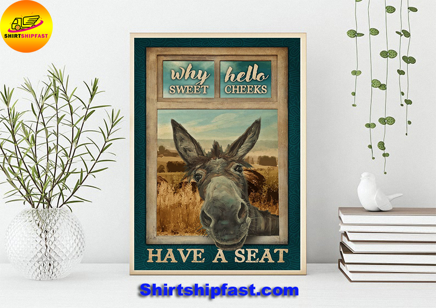 Donkey why hello sweet cheeks poster - Picture 3