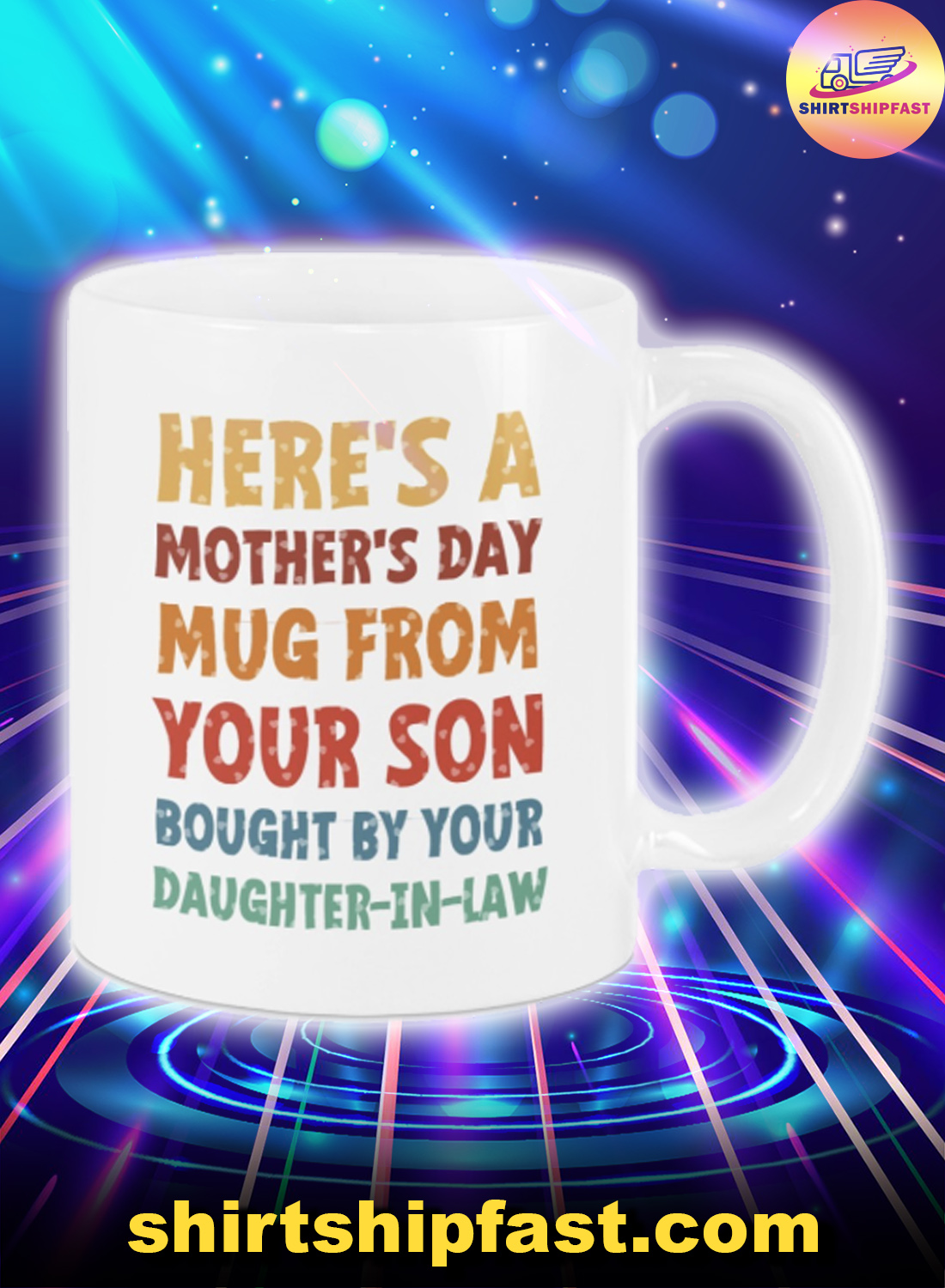 Here's a mother's day mug from your son bought by your daughter in law mug - Picture 1