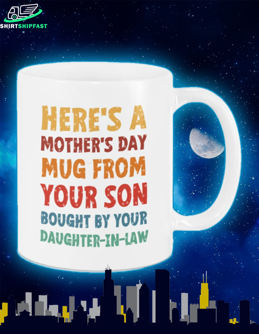 Here's a mother's day mug from your son bought by your daughter in law mug - Picture 2