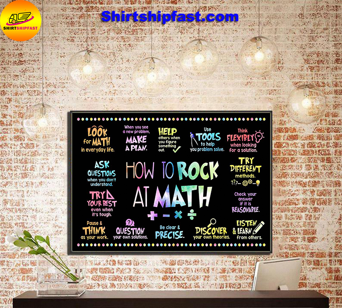 How to rock at math poster - Picture 3