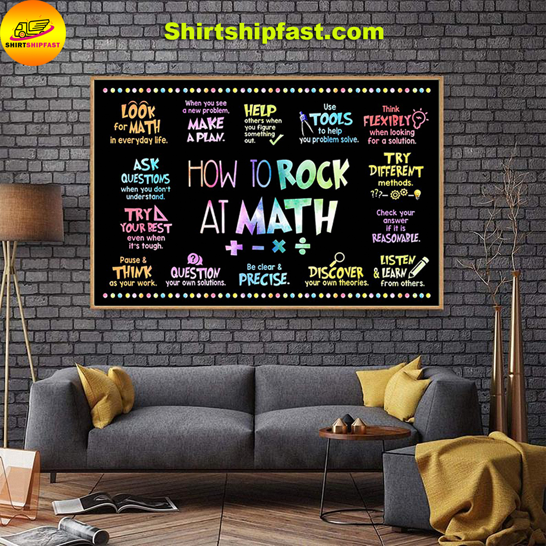 How to rock at math poster