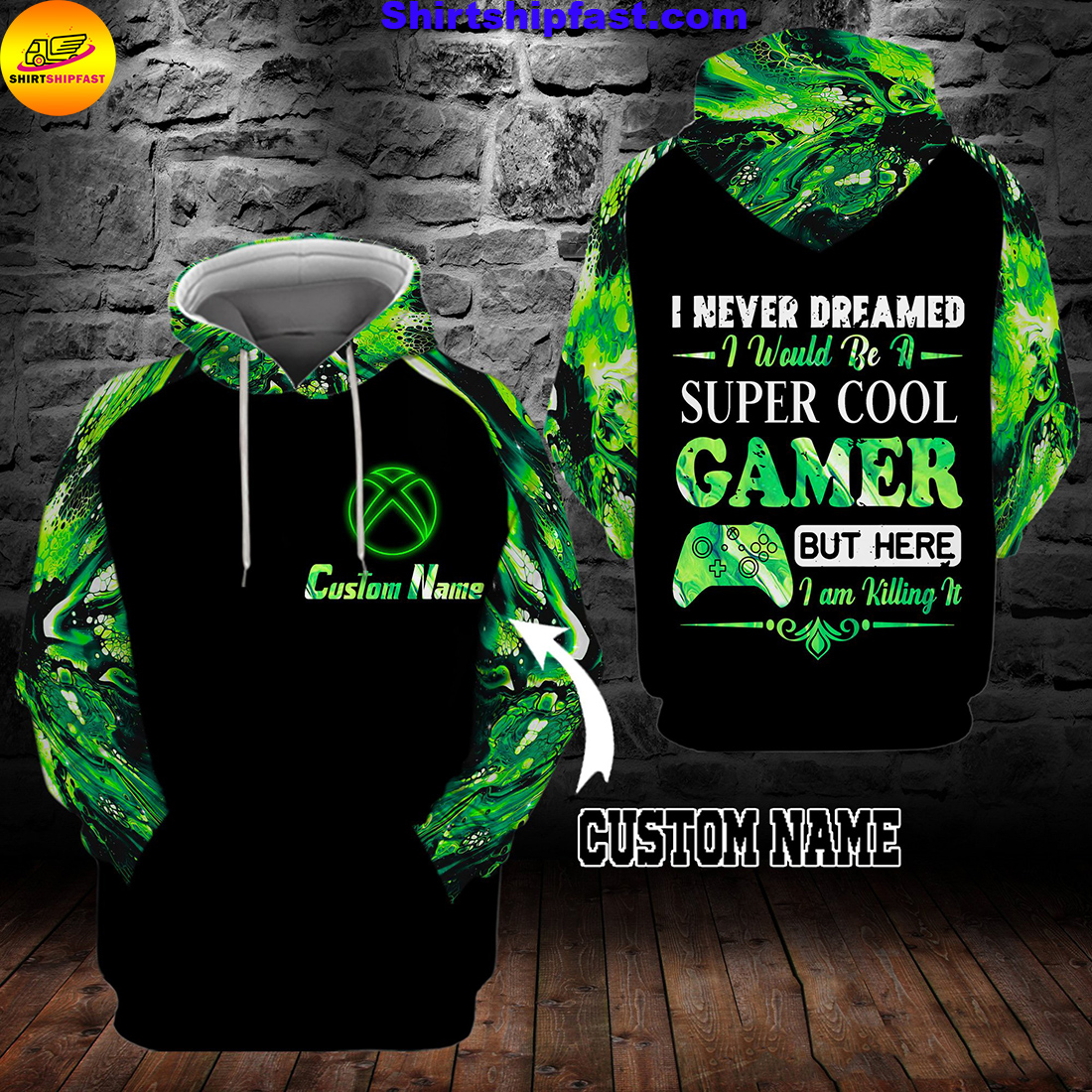 I never dreamed I would be a super cool gamer personalized custom name 3d hoodie and zip hoodie