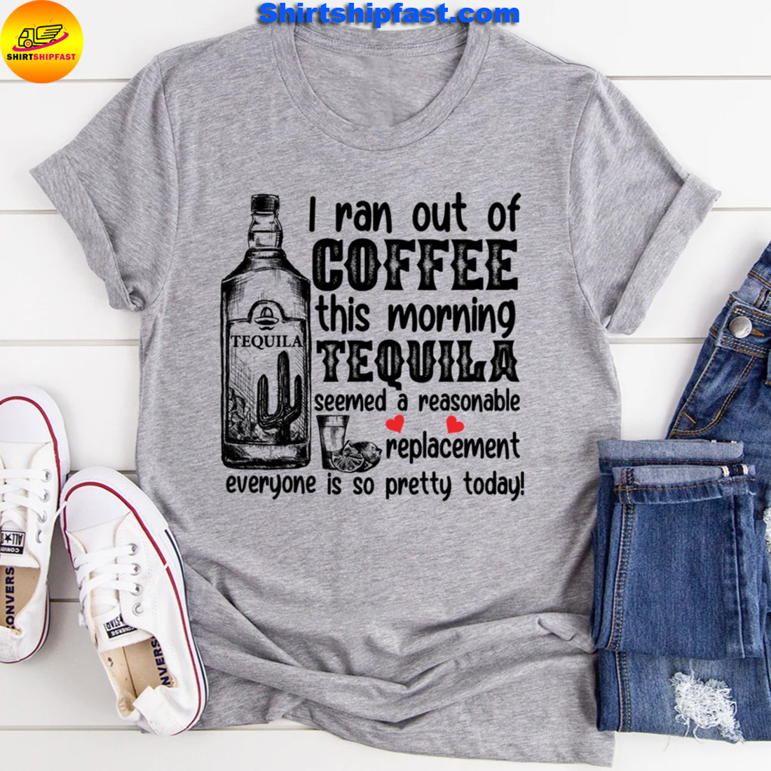 I ran out of coffee this morning tequila seemed a reasonable replacement everyone is so pretty today - Grey