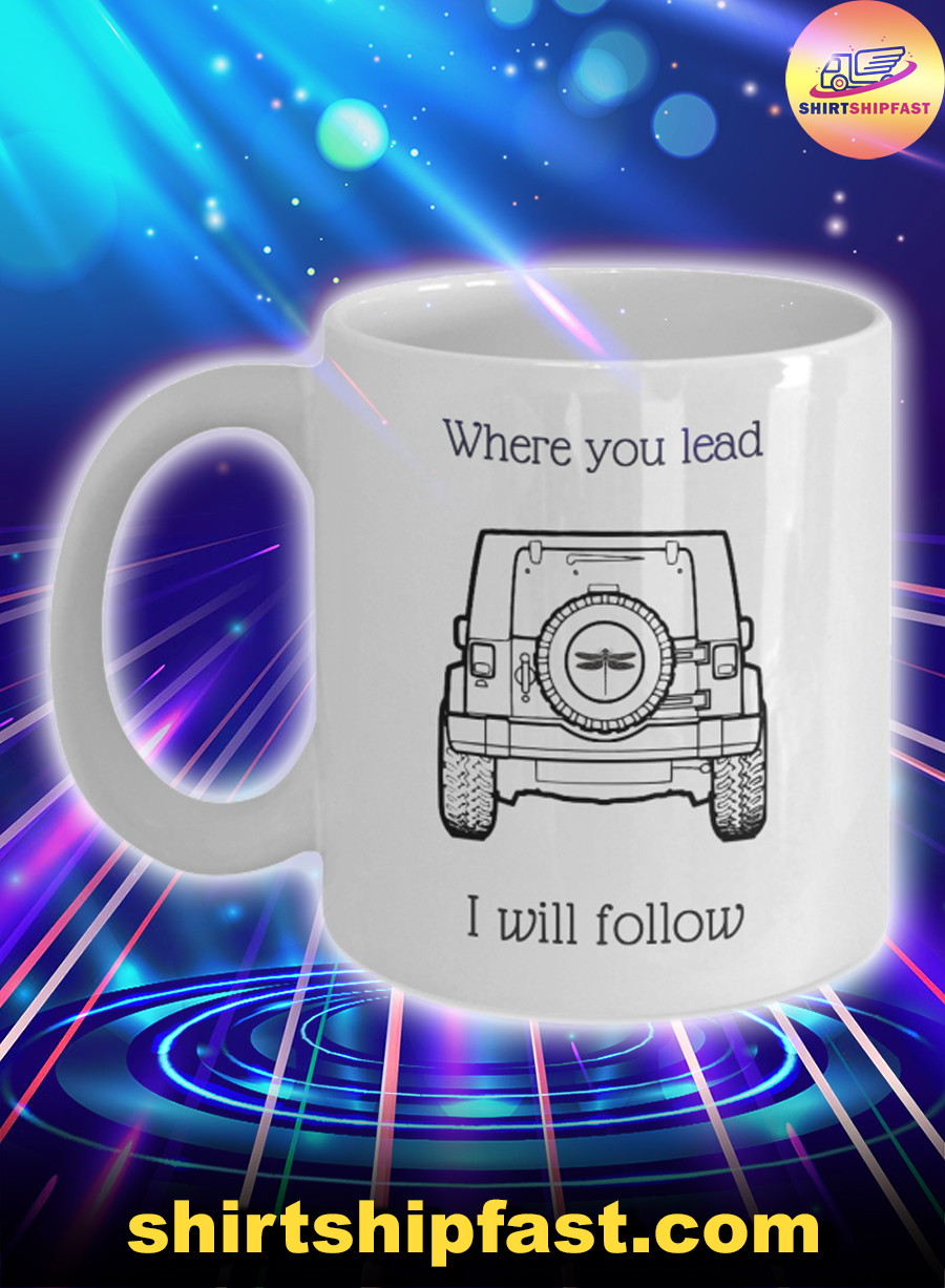 Jeep dragonfly where you lead I will follow mug - Picture 1