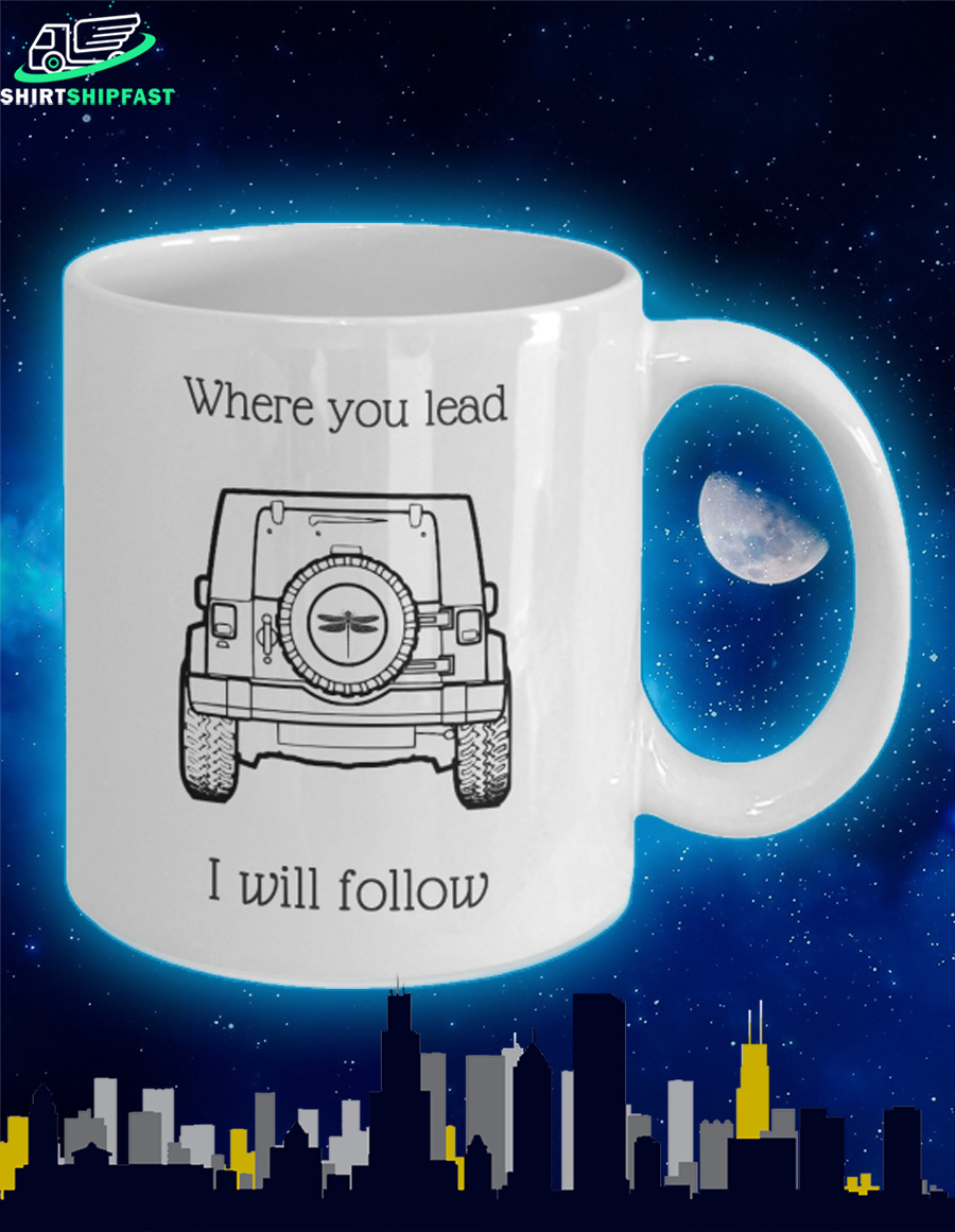 Jeep dragonfly where you lead I will follow mug - Picture 2