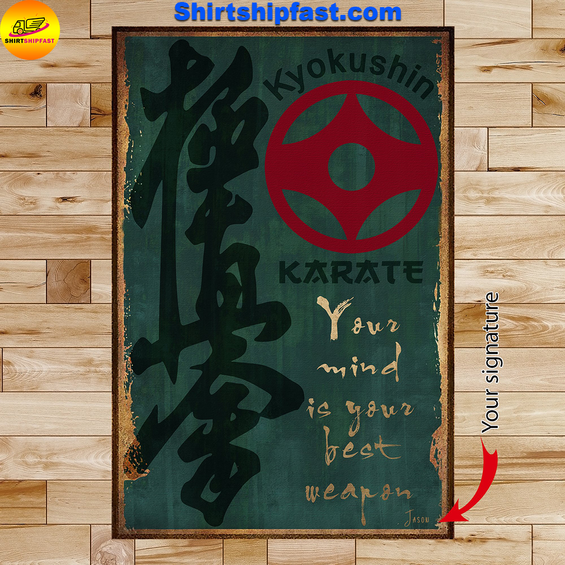 Karate your mind is your best weapon poster