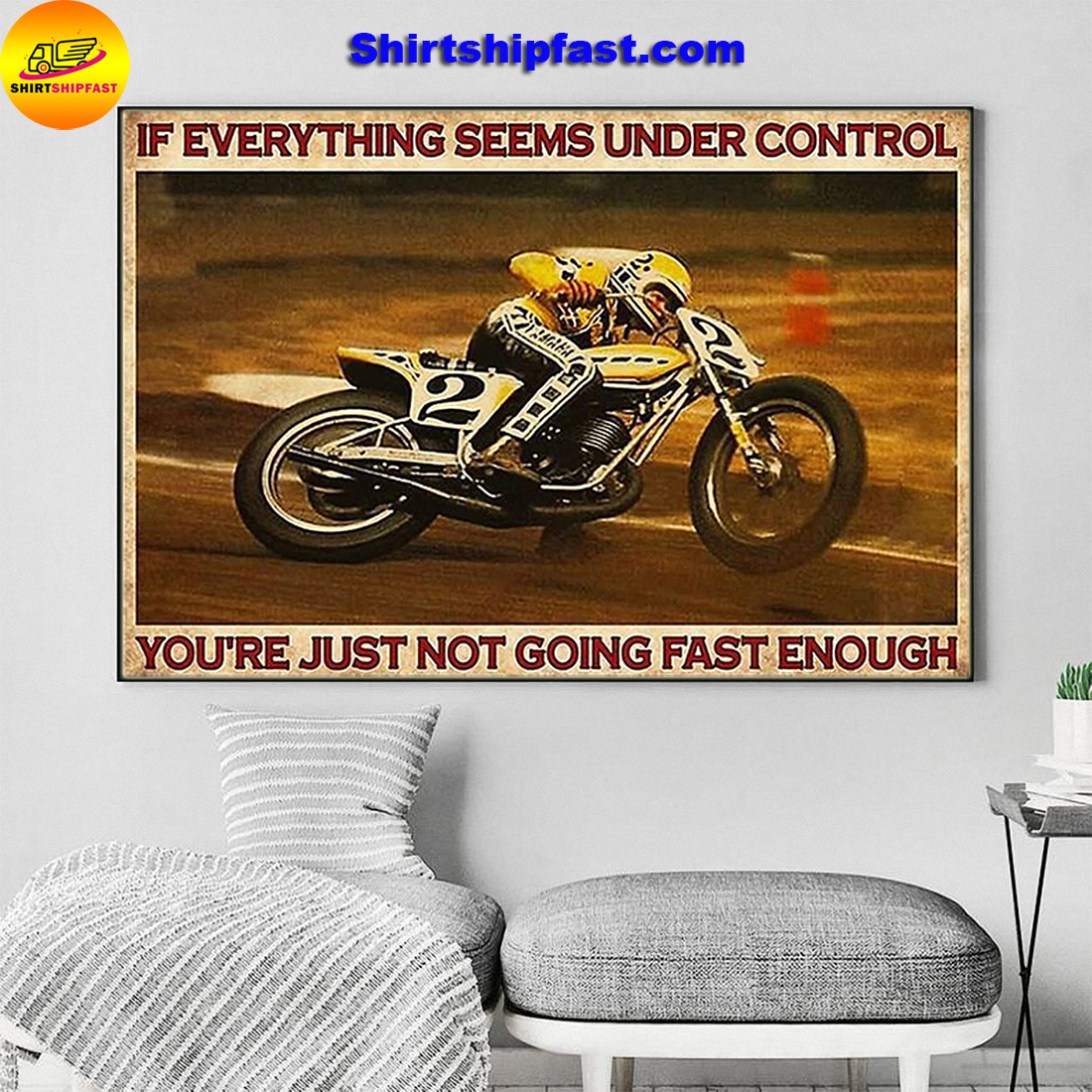 Kenny Roberts If everything is under control you are just not driving fast enough canvas - Picture 1