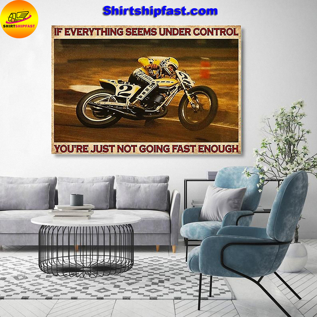 Kenny Roberts If everything is under control you are just not driving fast enough canvas - Picture 2