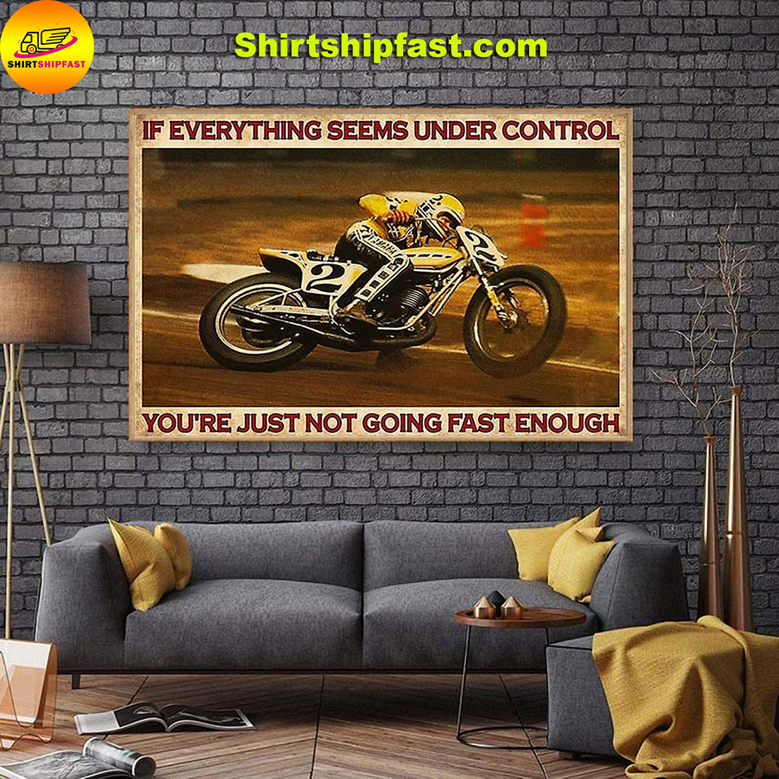 Kenny Roberts If everything is under control you are just not driving fast enough canvas - Picture 3