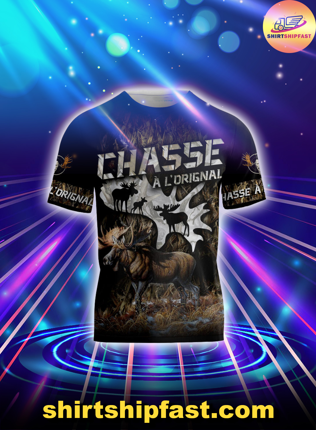 Love moose hunting 3d all over printed t-shirt