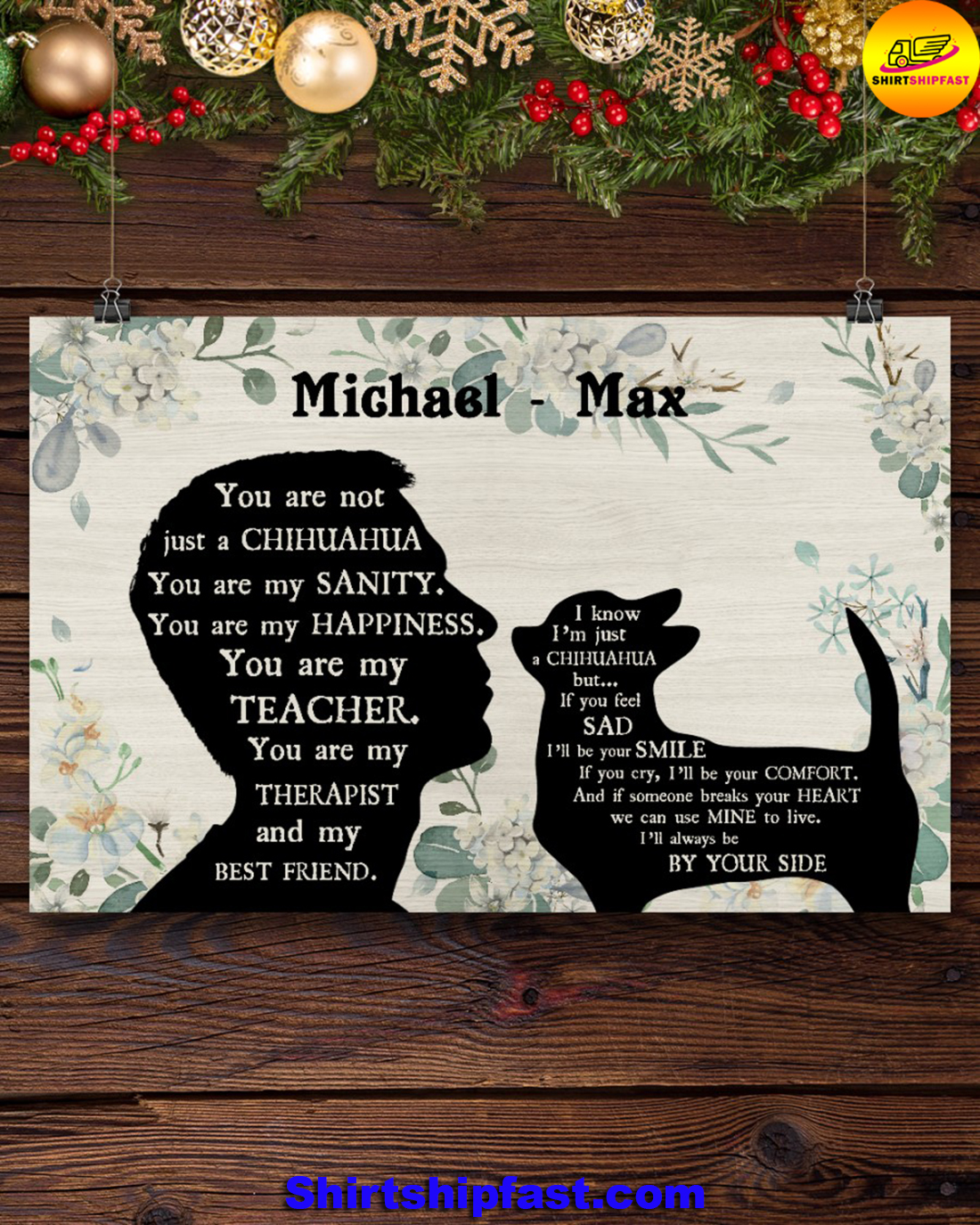 Male You are not just a chihuahua personalized poster - Picture 1