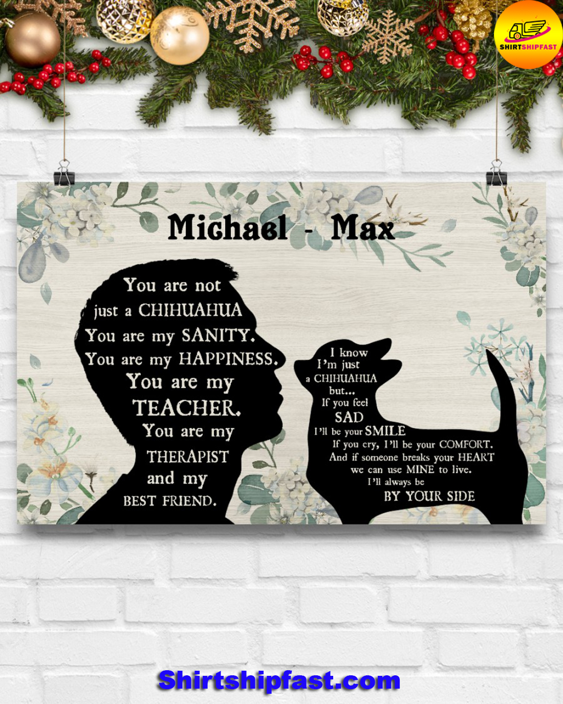 Male You are not just a chihuahua personalized poster - Picture 2
