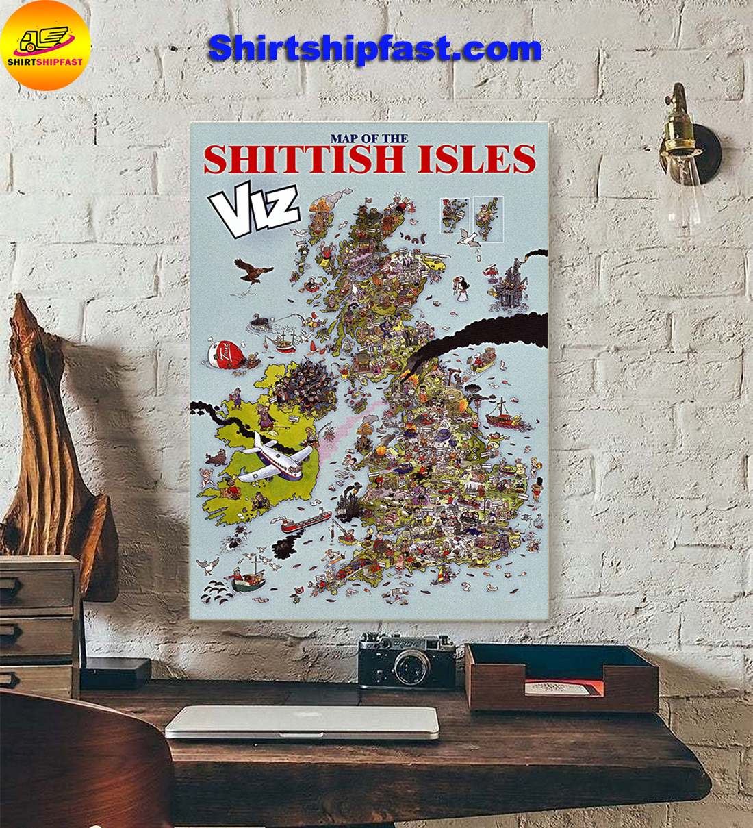 Map of The Shittish Isles viz poster - Picture 2