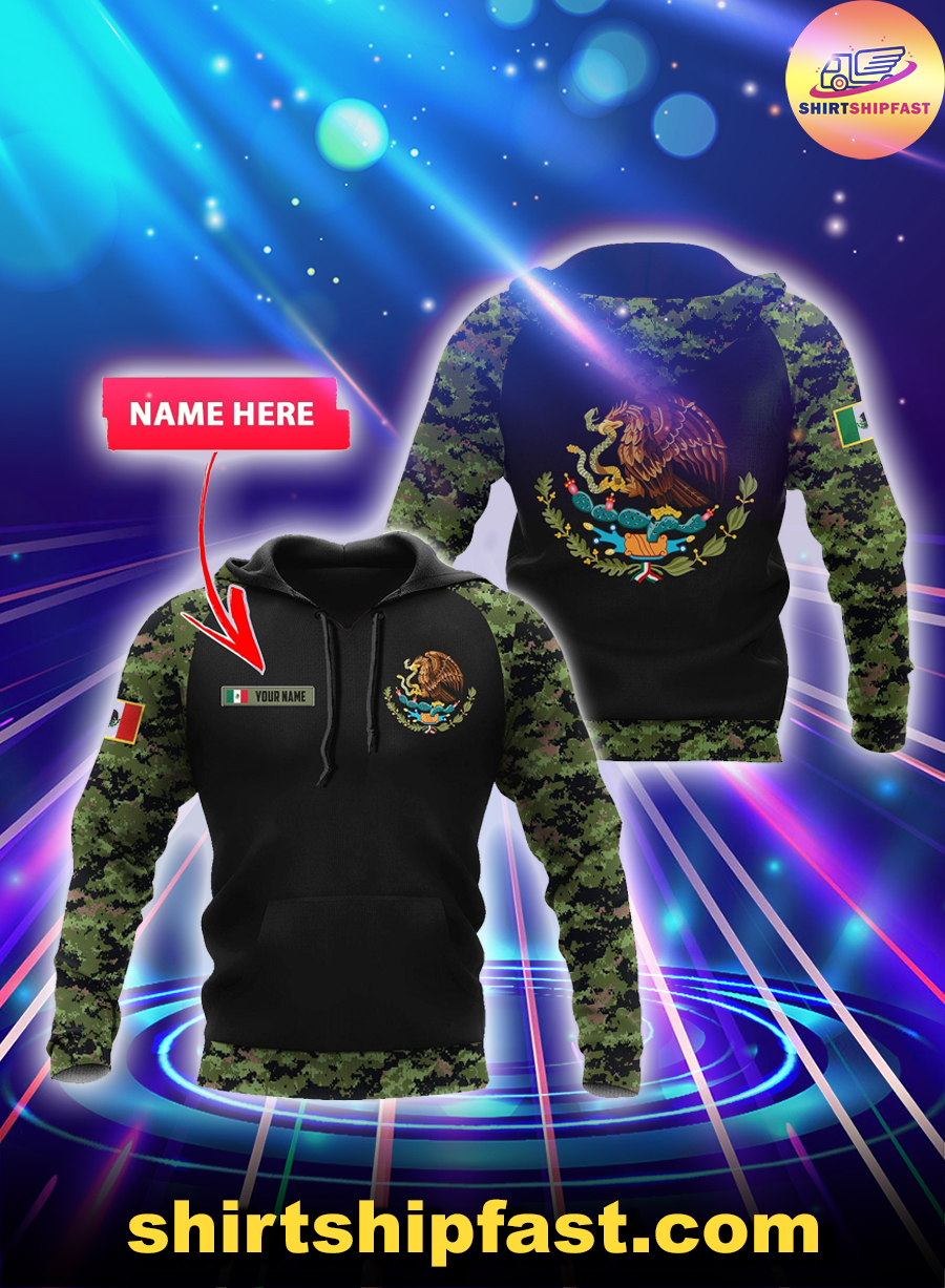 Mexico Coat of Arms personalized custom name 3d hoodie