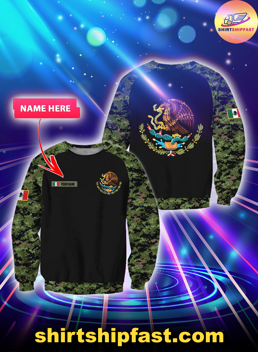 Mexico Coat of Arms personalized custom name 3d sweatshirt