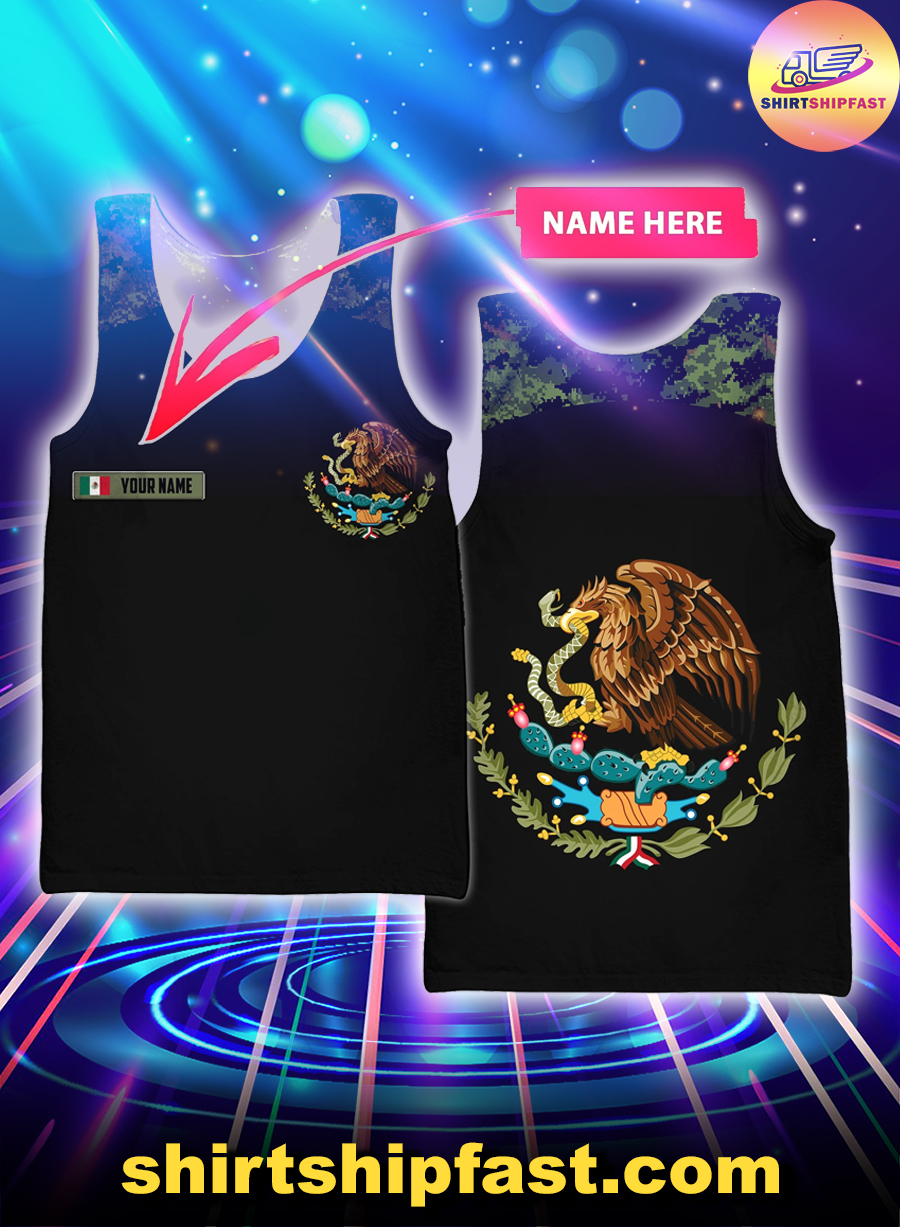 Mexico Coat of Arms personalized custom name 3d tank top