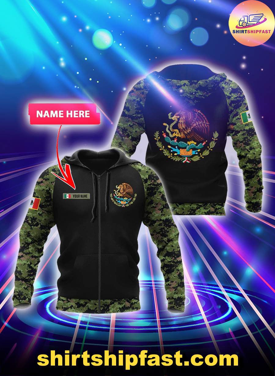 Mexico Coat of Arms personalized custom name 3d zip hoodie