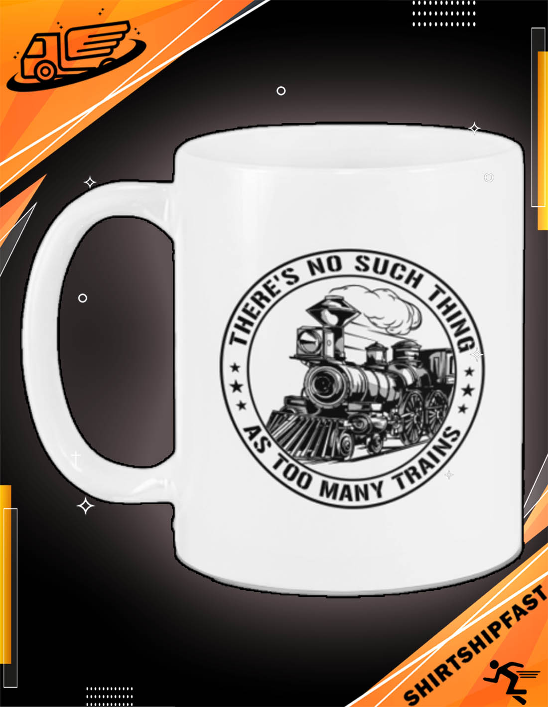 Model Railroad There's no such thing as too many trains mug - Picture 3
