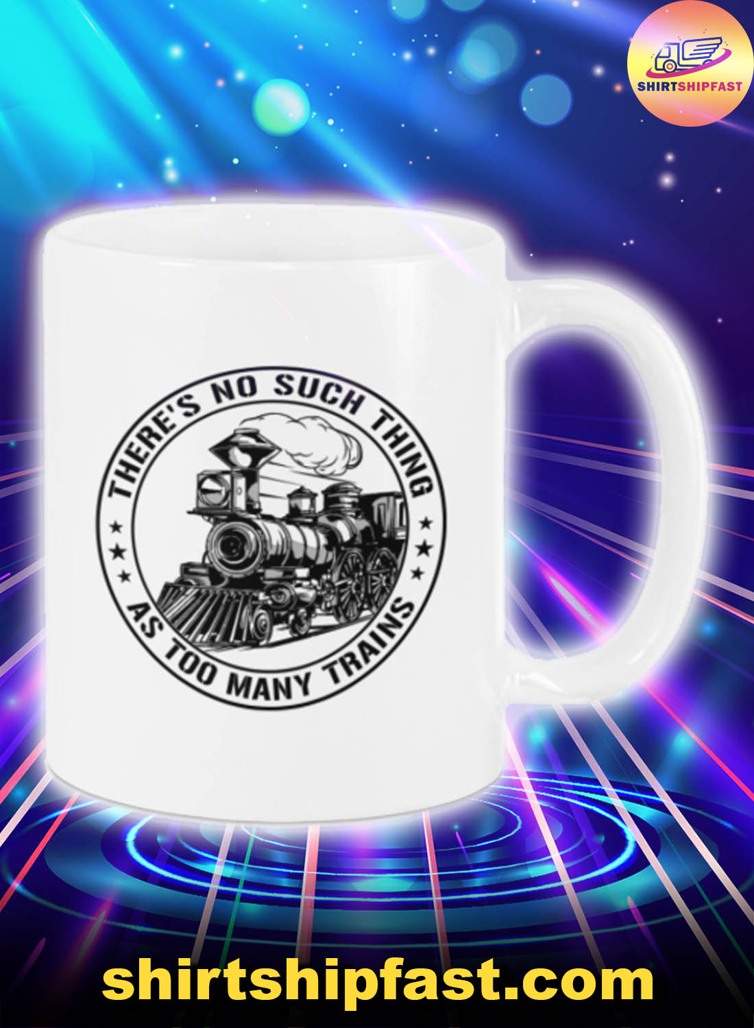 Model Railroad There's no such thing as too many trains mug