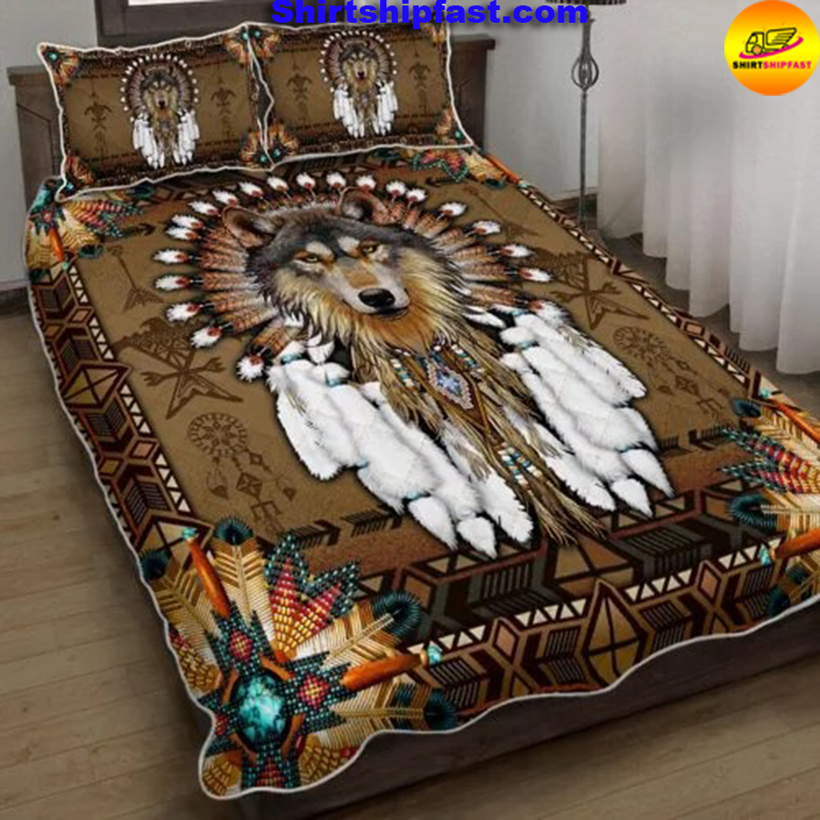 Native American wolf spirit bed set - Picture 2