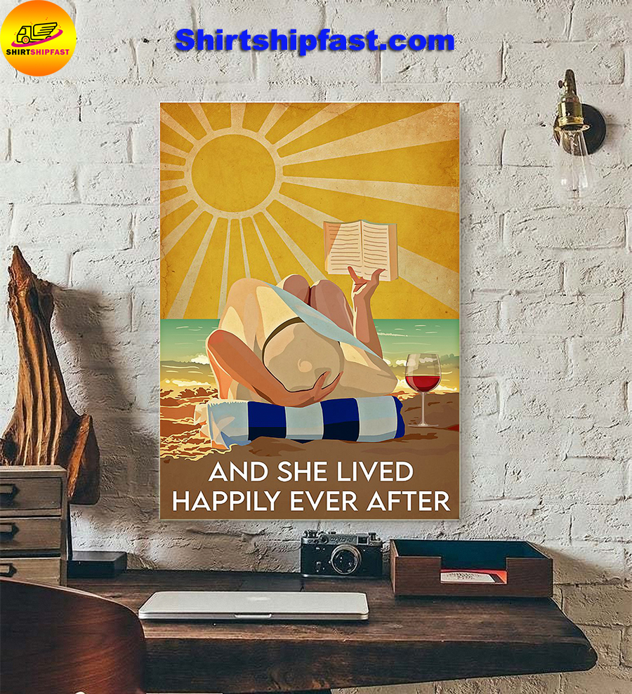 Ocean wine And she lived happily ever after poster