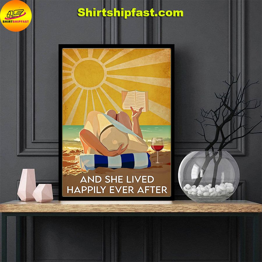 Ocean wine book And she lived happily ever after poster - Picture 2