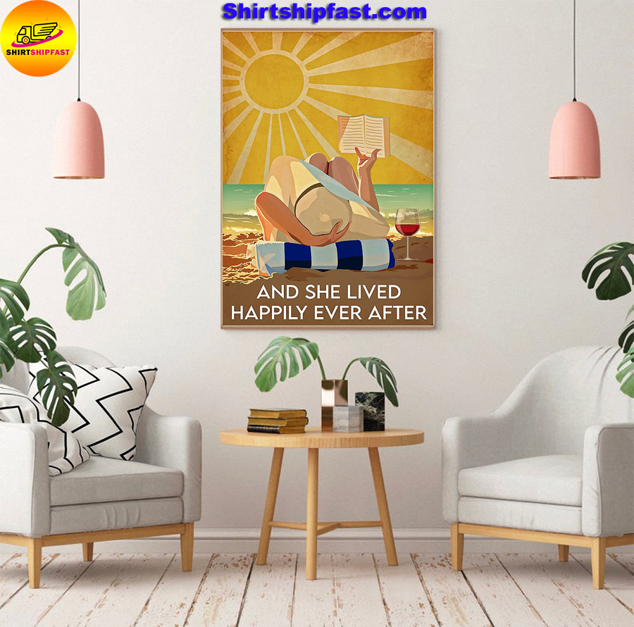 Ocean wine book And she lived happily ever after poster - Picture 3