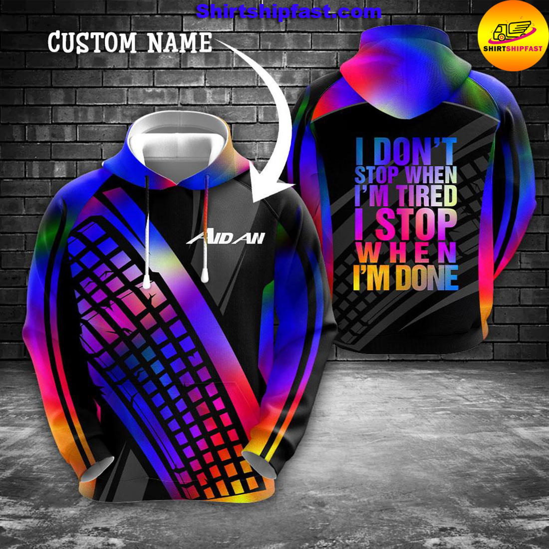 PC gamer I don't stop when I'm tired I stop when I'm done personalized custom name 3d hoodie and zip hoodie