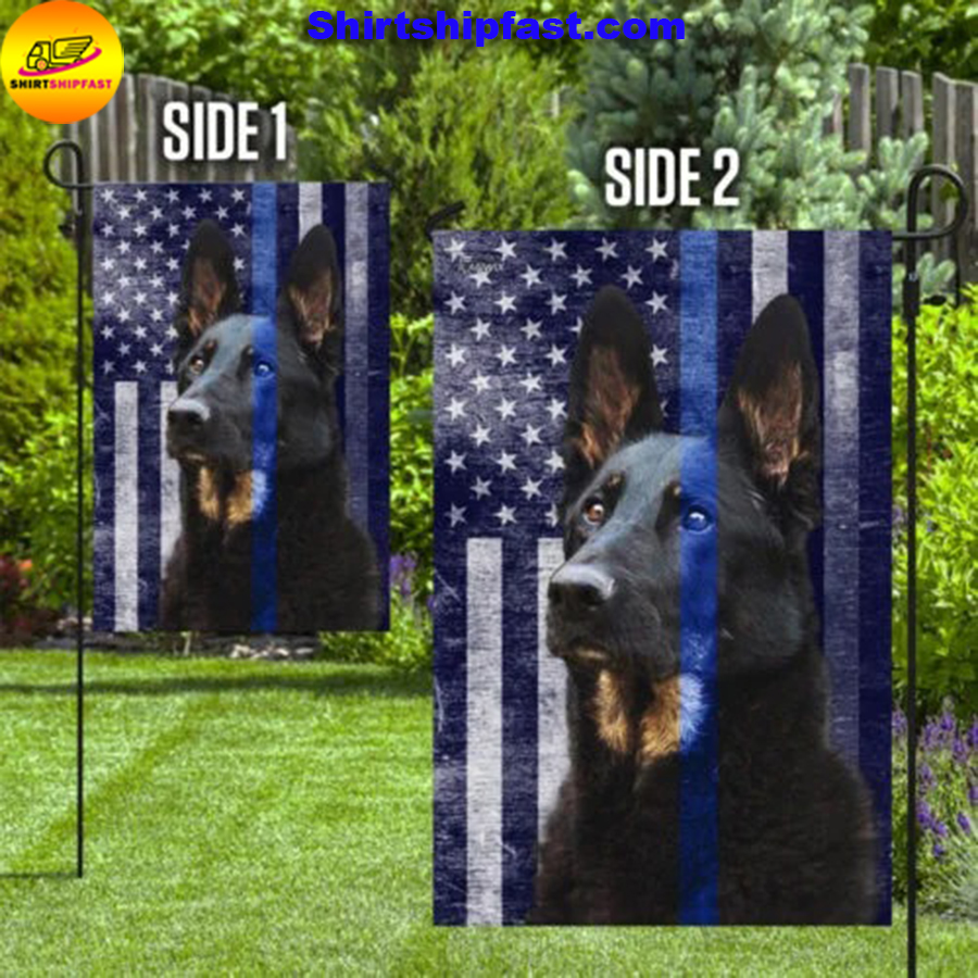 Police Dog thin blue line flag - Picture 1