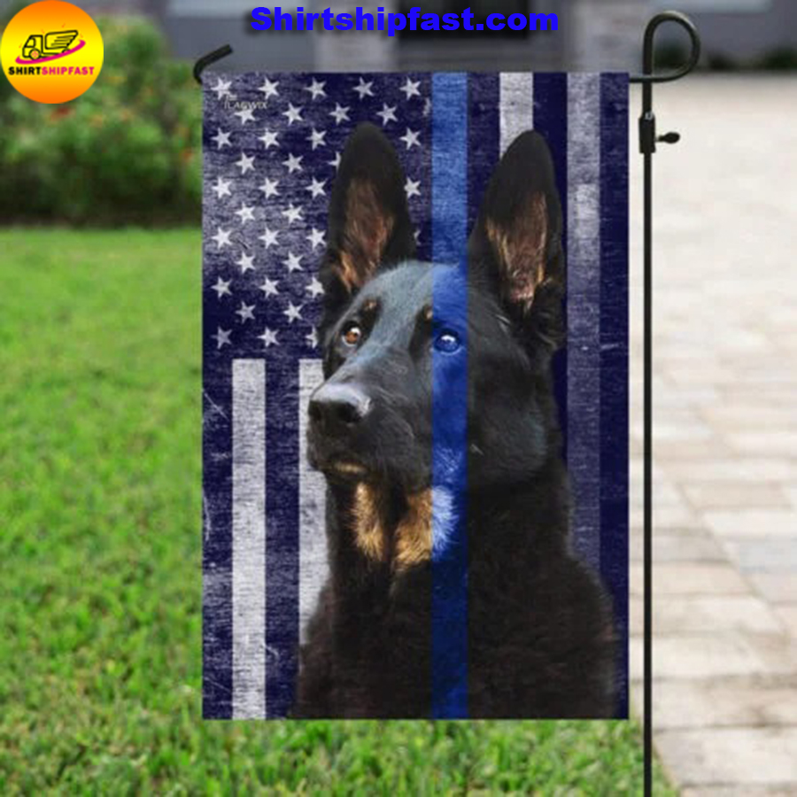 Police Dog thin blue line flag - Picture 3