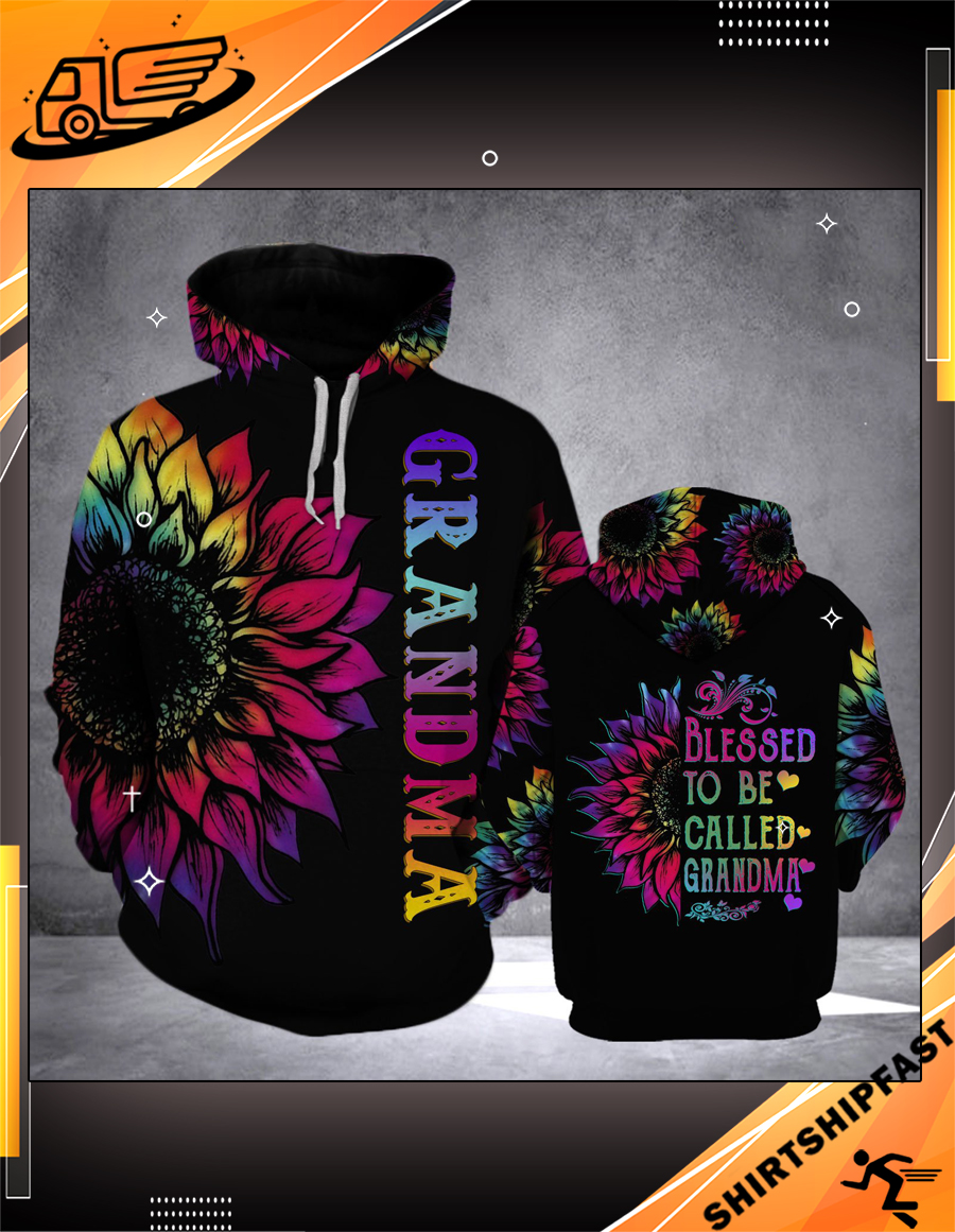 Sunflower Blessed to be called grandma 3d hoodie - Picture 3