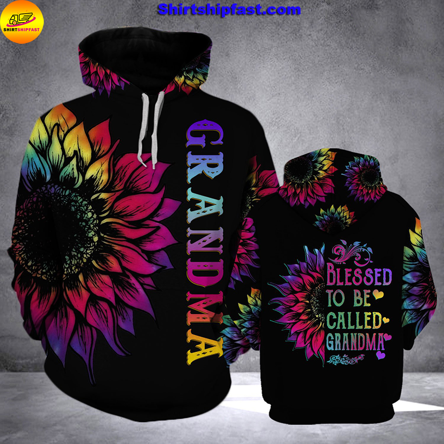 Sunflower Blessed to be called grandma 3d hoodie