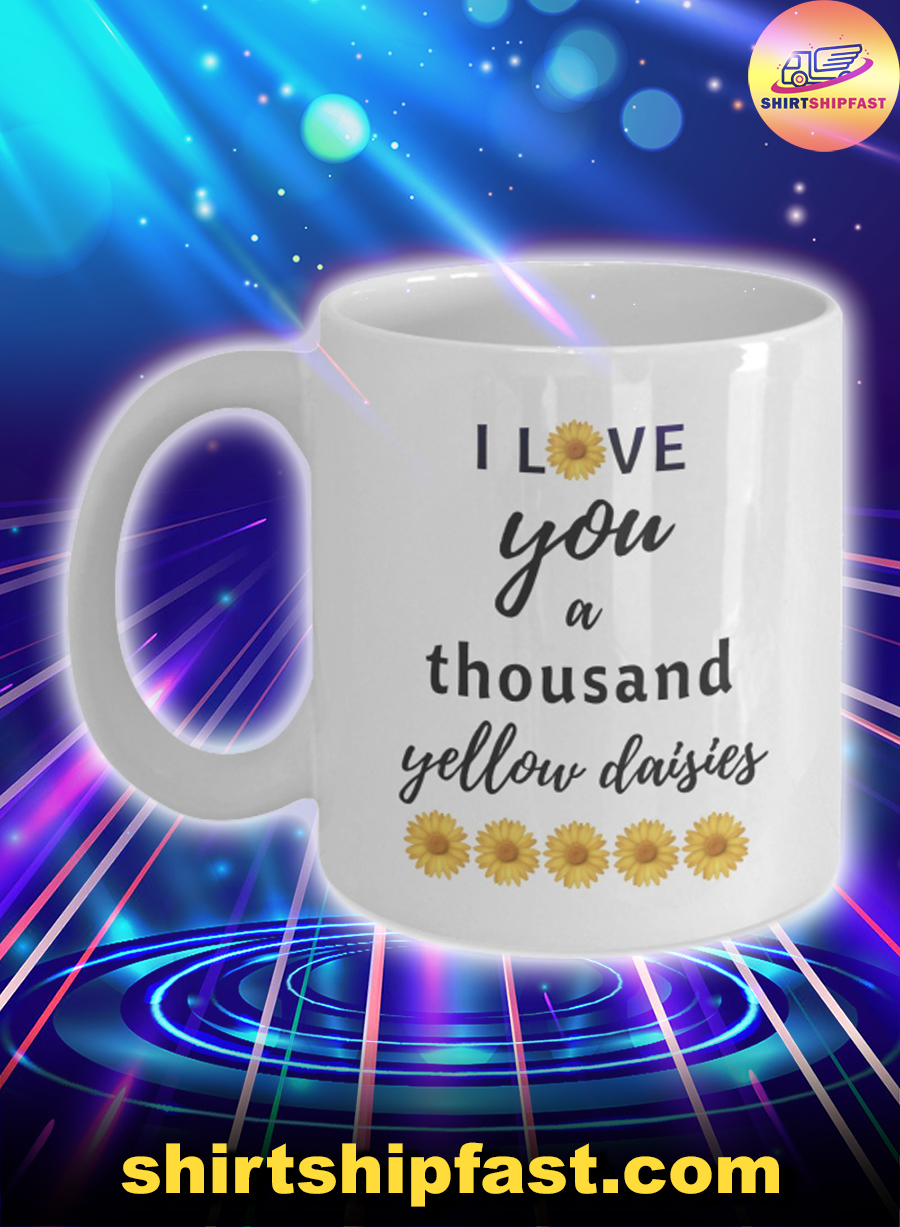 Sunflower I love you a thousand yellow daisies mug - Picture 1