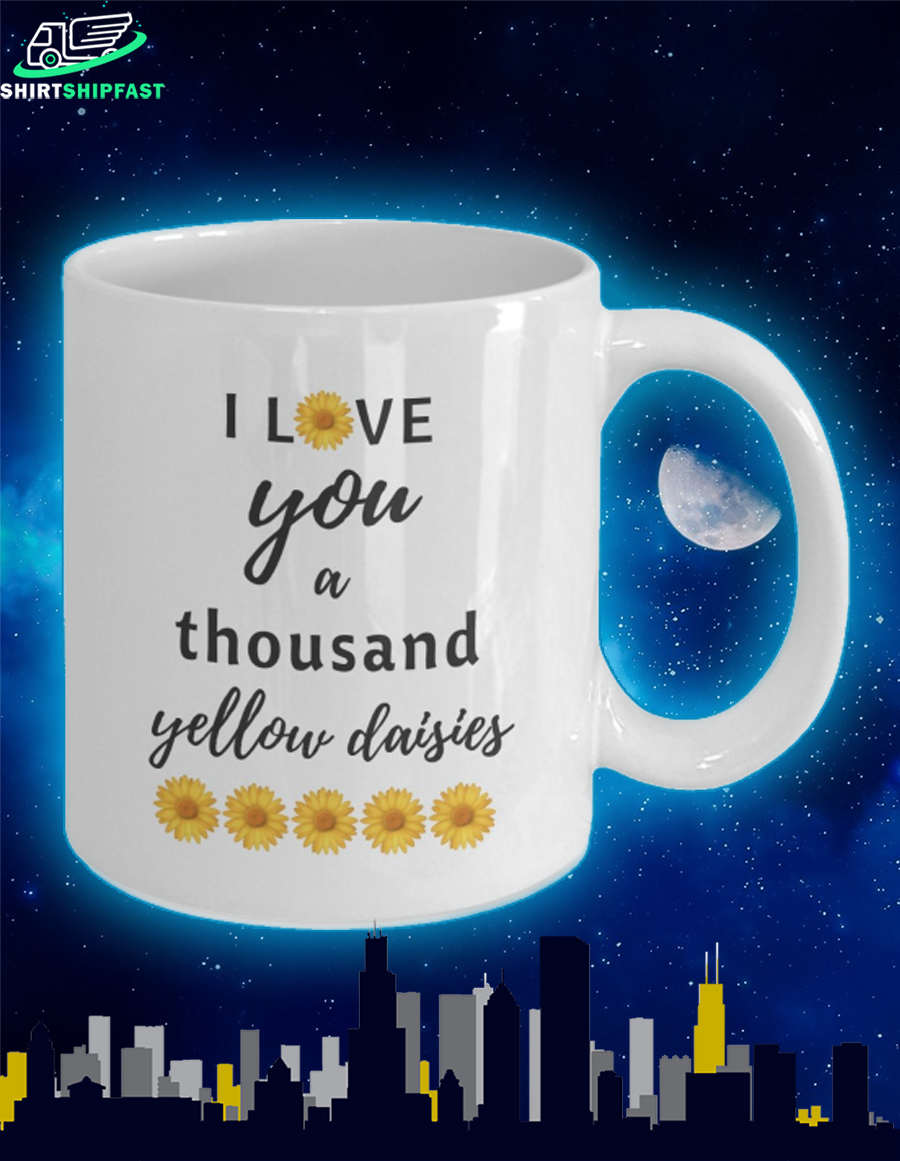 Sunflower I love you a thousand yellow daisies mug - Picture 2