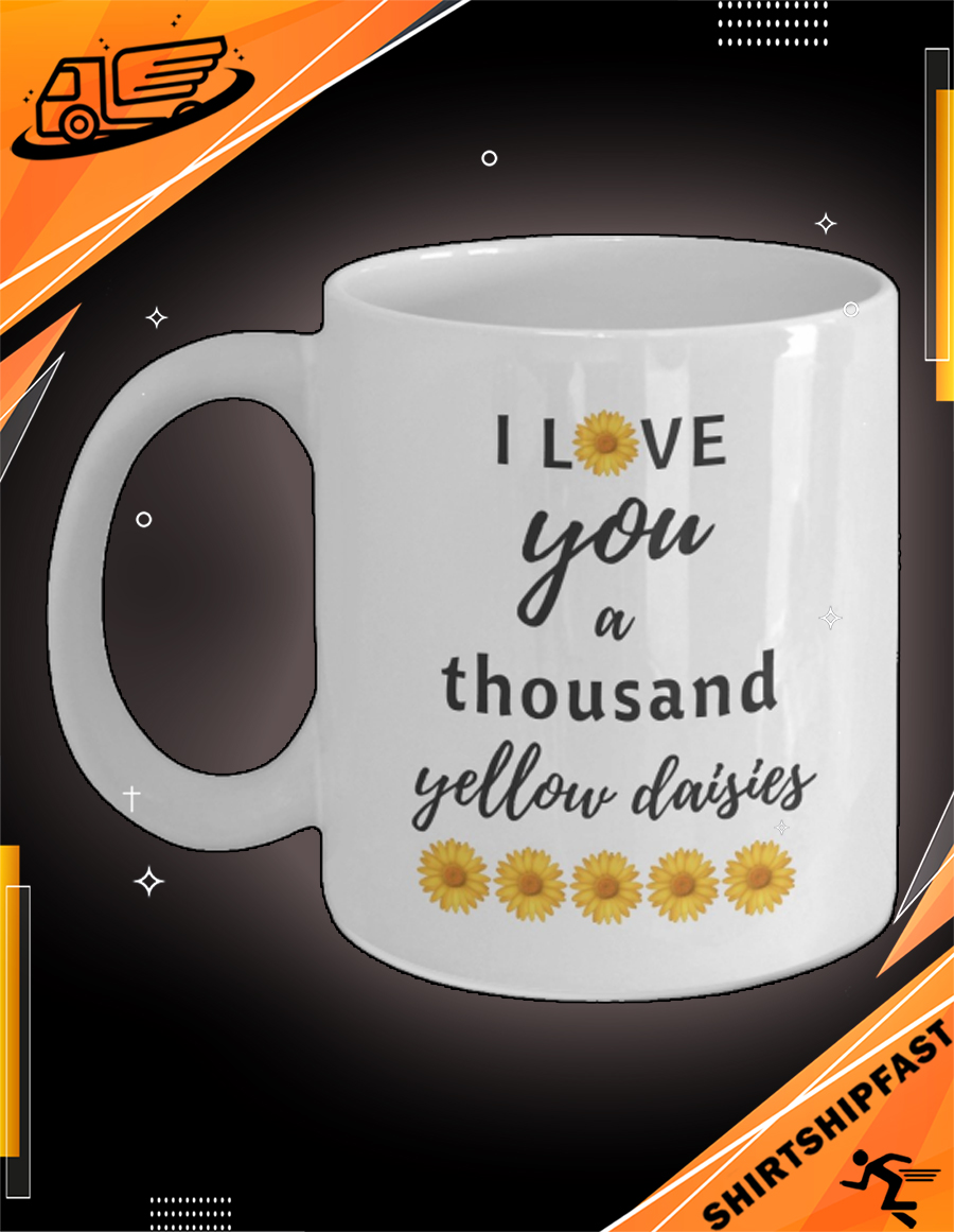 Sunflower I love you a thousand yellow daisies mug - Picture 3