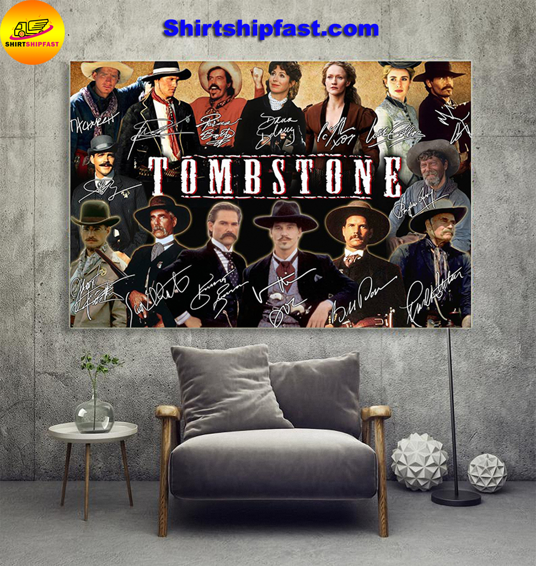 Tombstone actors signatures poster - Picture 1
